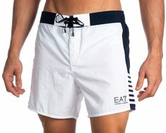 Swimwear man Emporio Armani White & Navy Blue – Yimy Ruiz – Join the world of pin Summer Outfits Men, Sport Outfits, Men's Swimsuits, Swimwear, Armani White, Fashion Pants, Mens Fashion, Fight Wear, Simple Casual Outfits