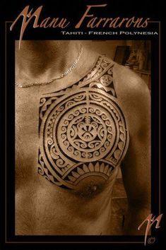 How do you like this tattoo? Tahitian Tattoo, Kreis Tattoo, Polynesian Tattoos Women, Wing Tattoo Designs, Traditional Tattoo Design, Samoan Tattoo, Chest Tattoo, Tribal Tattoos, Tattoos For Women