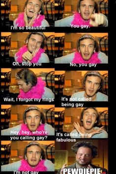Pewds just being awesome