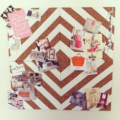 .@lynbacca | The finished product: DIY cork board painted in David Hicks' La Fiorentina pa...