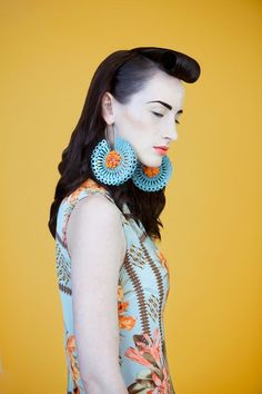 """CIARA BOWLES-UK  Trina Earrings    """"The jewelry I make is designed to make a statement. My aim is to fascinate the viewers of my jewellery, to create objects whose aesthetics and tactility are exciting, compelling them to take a closer look."""""""