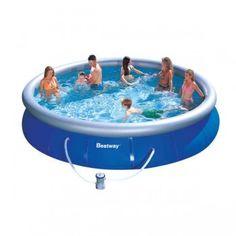 Bestway X Fast Set Inflatable Pool Set W/ 6 Cartridges