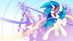 Vynil Scratch Wallpaper by Didj on DeviantArt Mlp, My Little Pony Characters, Fictional Characters, Tiny Horses, Vinyl Scratch, My Little Pony Friendship, Equestria Girls, Vinyl Figures, Online Art Gallery