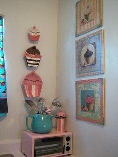 Wooden cupcake ideas
