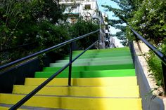 amazing Colored Horizon Steps / an Urban Art Intervention at Marasli Str. Steps, Athens by Atenistas