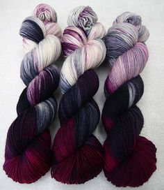 I'm in love with this yarn..... I want it.... seriously, I want it and to wear whatever I make every friggin day!  Winterdämmerung by Romy