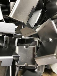 Folded mild steel brackets, bent up from laser cut blanks ...