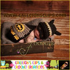 Crochet Pattern - Batbaby and sidekick - Cuddle Critter Cape Set - Newborn Photography Prop $5.95