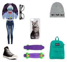 """""""FEELIN SASSY"""" by candygirl156 ❤ liked on Polyvore featuring Converse, Quiz, Local Heroes and JanSport"""