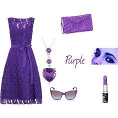 Purple by unicornslifeever on Polyvore featuring Phase Eight, Miu Miu, Miadora and Manic Panic