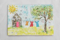 Blackbirds & Bumblebees: Charming HOUSES - lots of charming house encaustic mixed media works
