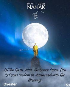in this dark age he showed all gods to be just one. bhai gurdas wonderful guru nanak dev ji inspired artwork by Guru Granth Sahib Quotes, Shri Guru Granth Sahib, Guru Nanak Ji, Nanak Dev Ji, Sikh Quotes, Gurbani Quotes, Punjabi Quotes, Lesson Quotes, Baba Deep Singh Ji
