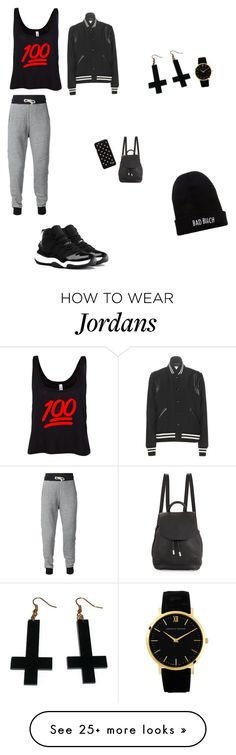 """School look"" by miraclemcdowell-1 on Polyvore featuring NIKE, rag & bone, Kill Brand, Diane Von Furstenberg, Chicnova Fashion, Larsson & Jennings and Yves Saint Laurent"