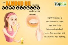 almond oil remedy for dark circles