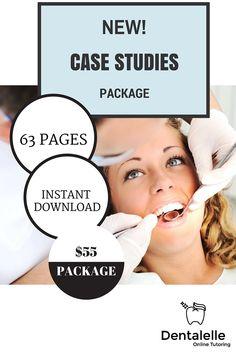 Case Studies Package for Dental Hygiene Students! Dental Hygiene Education, Dental Assistant, National Board, Board Exam, Online Tutoring, Student Studying, Online Courses, Case Study, Students
