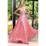 Iridescent silky chiffon, sweetheart neckline, beaded bodice with full skirt, this gown will make you feel like you're floating on air. Great gown for prom and special occasion. In stock now!