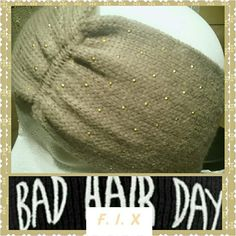 NWT WONDERFUL HEADBAND TAUPE/METALLIC DOT Whether A Bad Hair Day Or Just ready to pop Your Look Grab Your New Neutal to Go With Any and EVERY COLOR HEAF BAND AND KEEP GOING Steve Madden Accessories Scarves & Wraps