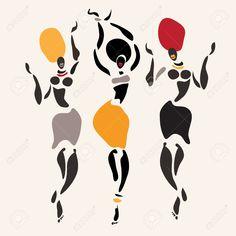 siluetas de mujeres africanas - Buscar con Google