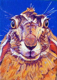 Surprised Rabbit by Nancy Stark