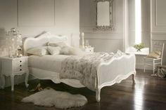 white wood king size bed frame - Google Search