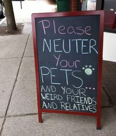 Why you should spay/neuter your pet I Love To Laugh, Make Me Smile, Haha Funny, Hilarious, Funny Stuff, Funny Shit, Random Stuff, Stupid Stuff, Pet Stuff