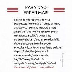 A língua portuguesa falada no Brasil. #studyportuguese