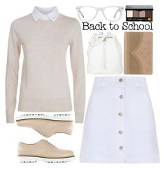 """""""Back To School: New Shoes"""" by enola-pycroft ❤ liked on Polyvore featuring Muse, See by Chloé, Hogan, The Row, Ted Baker, Bobbi Brown Cosmetics, women's clothing, women, female and woman"""