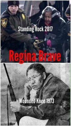 Regina Brave (b. - Wounded Knee Rock Regina Brave, a survivor of Wounded Knee II in was released in February of 2017 after being arrested for standing up for treaty rights against police who raided Oceti Sakowin. Native American Wisdom, Native American Pictures, Native American Women, Native American History, Native American Indians, Native Indian, Indian Tribes, American Symbols, American Art