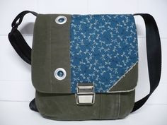 Messengerbags - Upcycling, Messengerbag, Seesack, Libellen, Japan - ein Designerstück von edda-be bei DaWanda