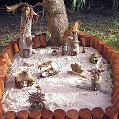 Fairy Garden/Village Idea - If you don't want too much maintenance. I am sure this one could be made much smaller also.