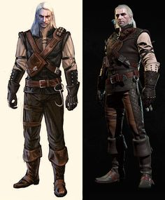 Geralt. Before and After