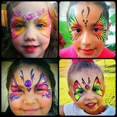 Butterfly Face Painting  Shine Face and Body Art