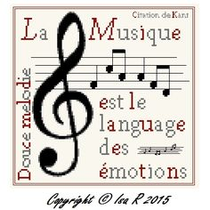 3 Citations musicales à broder ( free )