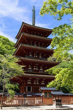 Nara - 5 verdiepingen Pagode - hoort bij het Kofukuji tempel complex (7e eeuw).
