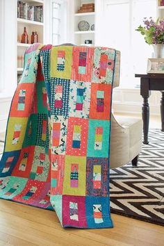 modern jelly Roll quilt - saved for inspiration - out of stock kit but easy to figure out the directions