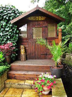 Backyard Bar Shed Ideas Backyard Bar, Backyard Sheds, Outdoor Sheds, Outdoor Gardens, Outdoor Spaces, Outdoor Bars, Outdoor Kitchens, Garden Bar Shed, Garden Sheds