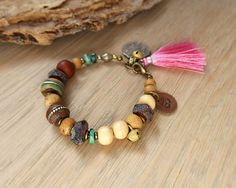 Om bracelet yoga bracelet ethnic jewelry bohemian by OmSaha. 55.00