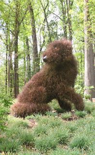 Fuzzy Dog - Atlanta Botanical Garden sculpture