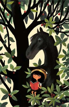 Le chaval dans le cerisier - Chocolat! Jeunesse Un texte tendre de Magdalena qui se fond dans les illustrations poétiques et ensoleillées de Nicolas Duffaut…