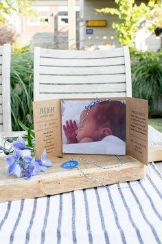 Kraft geboortekaartje van Juliam - Welkom kleine man - Ontwerp door Leesign #leesign #geboortekaart #kraft #kraftpapier #welkomkleineman #label #bakerstwine #bakkerstouw #foto #birthannouncement #birthcard