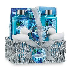 3516d59c485 Spa Gift Basket in Heavenly Ocean Bliss Scent – 9 Piece Bath