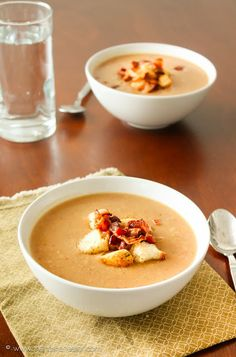 BEAN AND BACON SOUP : Soups and Salads