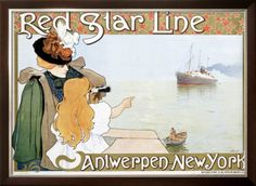Red Star Line Framed Giclee Print by Henri Cassiers at AllPosters.com