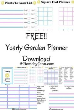 How to start planning your garden with a free garden planner download.