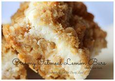 Creamy Oatmeal Lemon Bars (THM S, Sugar Free)