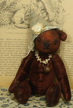 Bim de bear handmade old style jointed artist bear by HopkoshandCo