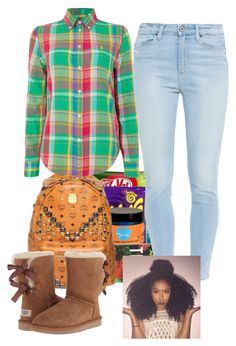 """""""Untitled #65"""" by laetitiiia on Polyvore featuring Paige Denim, Polo Ralph Lauren and UGG Australia"""
