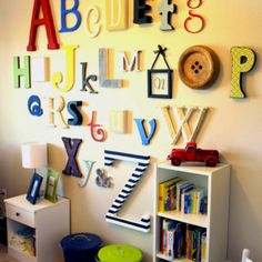 Letters on the wall. Brilliant way to learn alphabet.