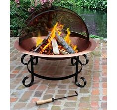 """If we ever get to """"finish"""" our backyard entertainment area! Copper Fire Pit - $324.99 »  How do you instantly upgrade your outdoor space from average to awesome? Add a fire pit. (World Market)"""