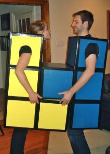 Halloween Costumes Tetris Pieces Costumes DIY